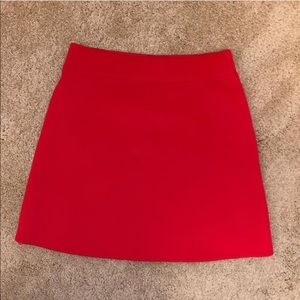 Frenchi Fitted Red Mini Skirt